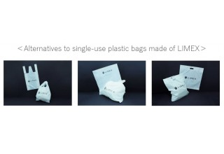 Alternatives to single-use plastic bags made of LIMEX