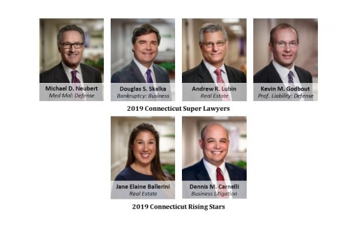 Neubert, Pepe & Monteith, P.C. Attorneys Recognized by Connecticut Super Lawyers 2019