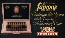 Famous Smoke Shop Celebrates 80 years with a Fuente Anniversary Cigar