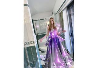 Model digitally dressed in IDE Dress by Tribute Brand