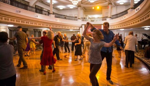 Swing Dancing for Charity at the Church of Scientology in Clearwater