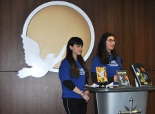 Young volunteers from the Brussels chapter of Youth for Human Rights International described the purpose and activities of the initiative and their work to raise awareness of human rights in Belgium.
