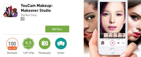 Super App YouCam Makeup Earns Elite 100 Million Downloads