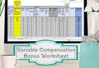 Variable Compensation Bonus Worksheet