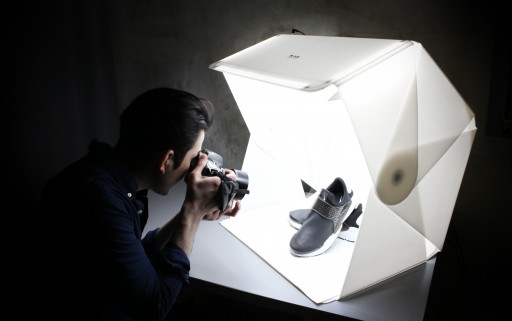 Eight Cubic Foot Foldio3 is a Massively Portable Pop-Up Product Shot Studio