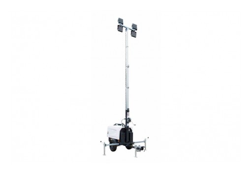 Larson Electronics Releases LED Light Tower, 6000W Water-Cool Diesel Engine Generator, 25' Tower