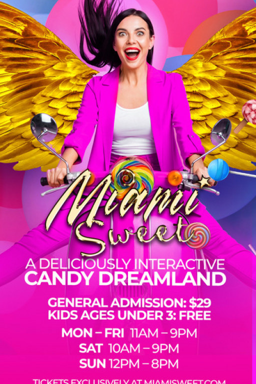 Candy Kingdom Presents 'Miami Sweet,' a Sugary Escape Opening at Aventura Mall on October 15
