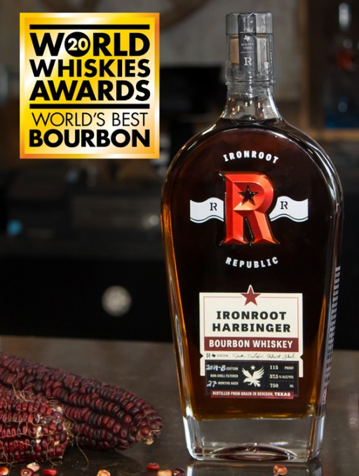 A Texas Cinderella Story: Whiskey Magazine Names Underdog Ironroot Republic's Harbinger the 'World's Best Bourbon'