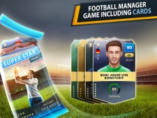 Football manager game including cards