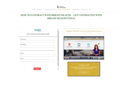 BenaVest's New Bright Health Agent Contracting Portal Makes Life Easy for Agents to Get Appointed With Bright Health
