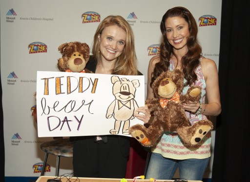Actress/Model Shannon Elizabeth Lends a Hand at Mount Sinai Kravis Center in Support of National Teddy Bear Day & enCourage Kids Foundation