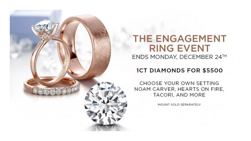 GMG Jewellers Hosting Engagement Ring Event With Markdowns on 1 Carat Diamonds