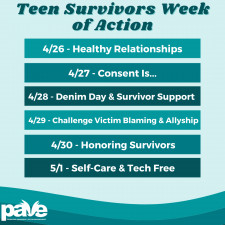 PAVE's Teen Survivors Week of Action