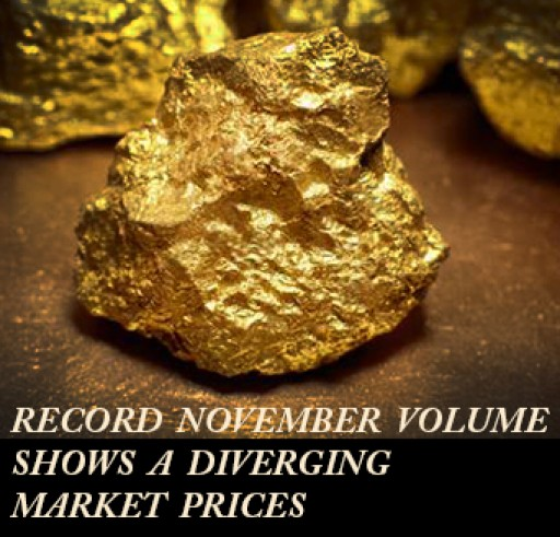 Record November Volume Shows a Diverging Market
