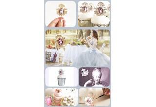 Marie-Antoinette cupcake topper