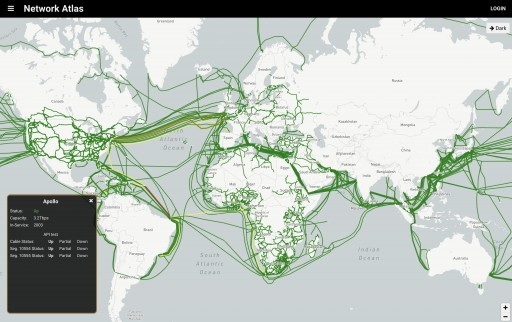 Network Atlas Launches Map of Global Internet Infrastructure