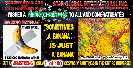Star Global Congratulates Artist Maurizio Cattelan and Goes Bananas!