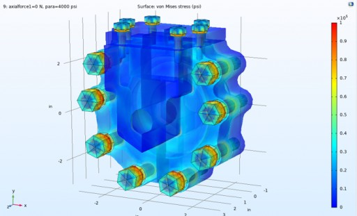 Clarke Valve Optimizing Bolting Configurations in Pressure Vessels in an Effort to Reduce Size and Weight