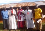 Christian ministers and Scientology Volunteer Minister at the Masanga Holy Spirit church in Kisii, Kenya