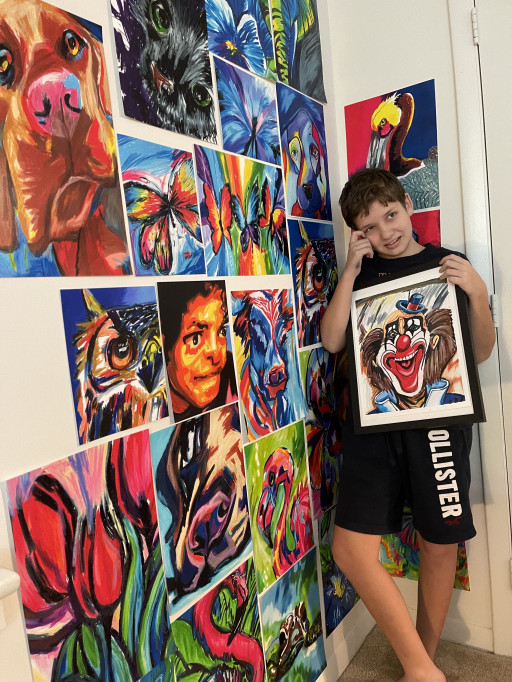 Gifted Serbian Artist Viktor Bevanda, 12, Proves Autism No Match for World Class Talent and Loving Family