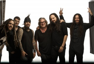 Dean Karr with members of the Nu Metal Band Korn
