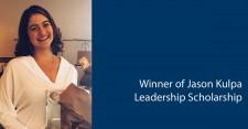 Winner of Jason Kulpa Scholarship