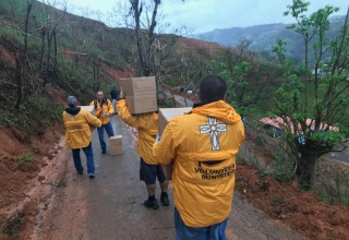 Under FEMA's direction, groups of Volunteer Ministers deploy to towns and villages in need of help.