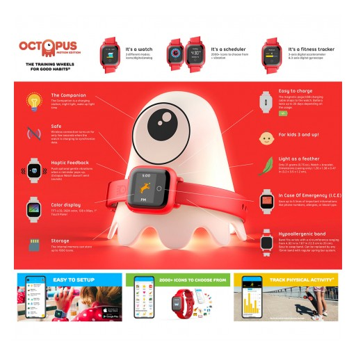 JOY Familytech Inc. Release Their New Octopus Watch Motion Edition Combo Kids' Smartwatch in North America