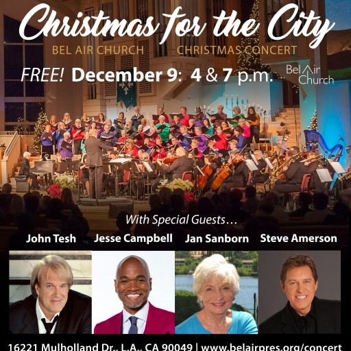 Bel Air Church Hosts Two Free Christmas Concerts for Los Angeles on Sunday, Dec. 9