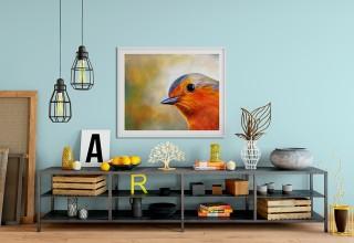 Ethereal Bluebird Giclee´Print