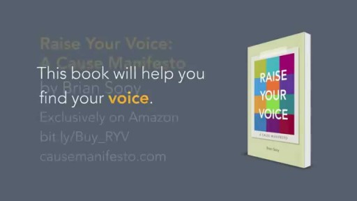 Raise Your Voice: A Cause Manifesto Book Trailer
