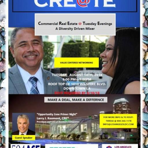 TENTEN Wilshire Rooftop: CRE@TE Mixer, Guest Speaker Larry J. Kosmont