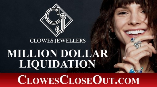Clowes Jewellers Closeout Liquidation Sale Offers Designer Jewellery at Up to 60% Off