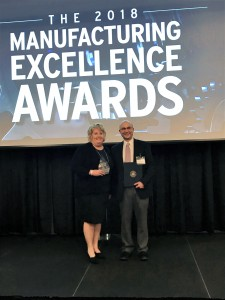 Acceptance of the 2018 Manufacturer Excellence Award