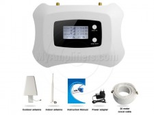 Signal booster with LCD screen