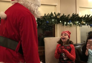 Children Delight in Meeting Santa Claus at Texas State Railroad's Polar Express