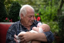 Grandfather & surrobaby Emilia
