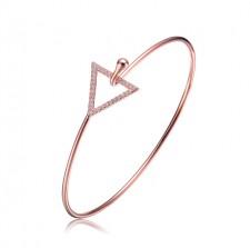 Rose Gold Overlay Triangle Clasp Bangle