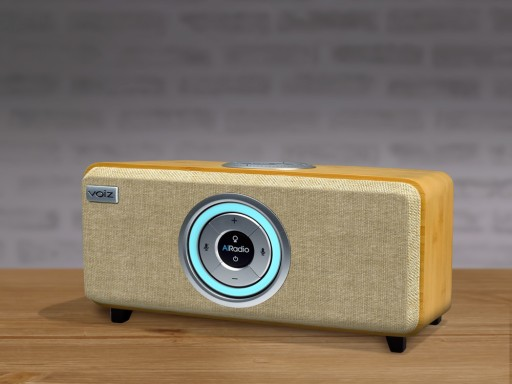 Voiz AiRadio - Natural & Rich Sound, Handcrafted Bamboo Cabinet, Alexa Smart Speaker