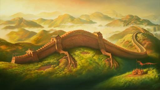 Vladimir Kush Presents His New Artwork 'Dragon Defence'