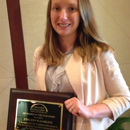 Colleen M. Garlick Awarded 'Rookie of the Year' by the Connecticut Bar Association Young Lawyers Section