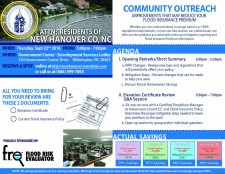 Community Outreach Scheduled for the Residents of New Hanover County, NC