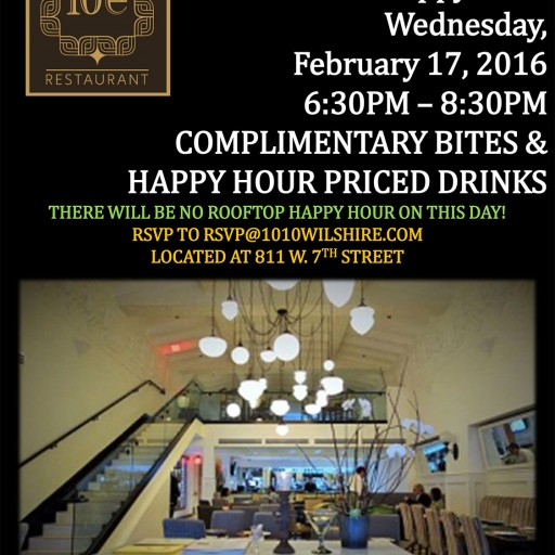 Downtown Restaurant 10e Presents TENTEN Happy Hour