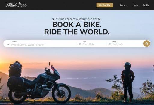 Twisted Road Features Over 2,000 Motorcycles to Book on All-New Website