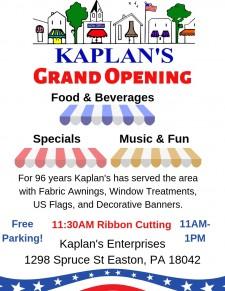 Kaplan's Re-Opening Celebration