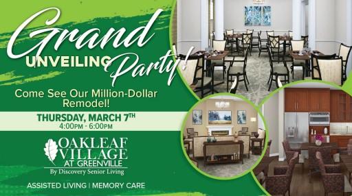 Oakleaf Village at Greenville Announces Million-Dollar Designer Remodel