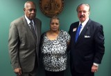 Deacon Joe Beasley, Freda Waiters, and Private Investigator T.J. Ward at Fulton County DA Paul Howard's Office