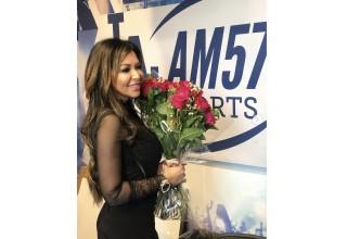 Maryam parman visits am570 recording studio in Burbank