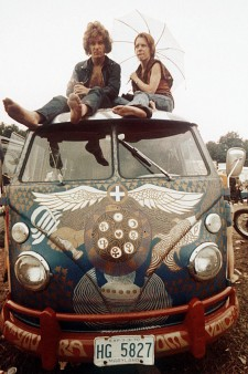 Light Bus at Woodstock August 1969
