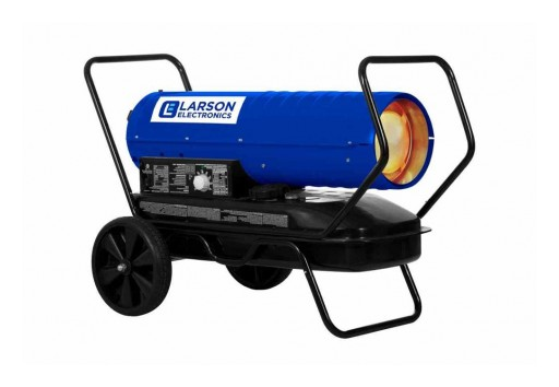 Larson Electronics Releases 120V Forced Air Heater, Cart-Mounted, Kerosene/Diesel, 630 CFM, 13 Gallon
